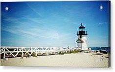 Nantucket's Brant Point Lighthouse Acrylic Print by Natasha Marco