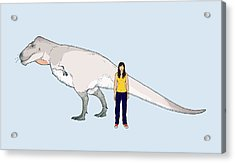 Nanuqsaurus Size Comparison Acrylic Print by Nemo Ramjet