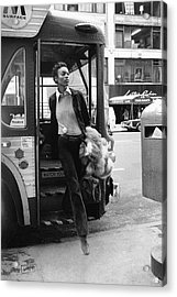 Naomi Sims Getting Off A Bus Acrylic Print