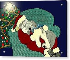 Nap With Santa Acrylic Print