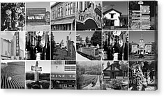 Napa Sonoma County Wine Country 20140906 Black And White Acrylic Print by Wingsdomain Art and Photography