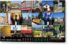 Napa Sonoma County Wine Country 20140906 With Text Acrylic Print by Wingsdomain Art and Photography