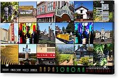 Napa Sonoma County Wine Country 20140906 With Text Acrylic Print