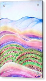 Acrylic Print featuring the painting Napa Valley by Carol Duarte