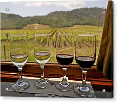 Napa Valley Wine Train Delights Acrylic Print