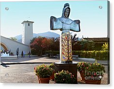 Napa Valley Winery 7d9046 Acrylic Print by Wingsdomain Art and Photography