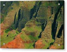 Napail Coast Cliffs Acrylic Print by Stephen  Vecchiotti