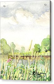 Napanee River West Acrylic Print