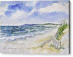 Napatree Beach Acrylic Print by Joan Hartenstein
