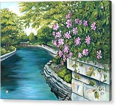 Naperville Riverwalk Acrylic Print