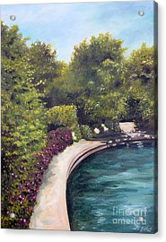 Acrylic Print featuring the painting Naperville Riverwalk II by Debbie Hart
