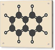 Naphthalene Aromatic Hydrocarbon Molecule Acrylic Print by Molekuul