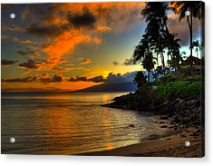 Napili Sunset Acrylic Print by Kelly Wade