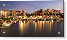 Naples Bay Acrylic Print by Mike Lang