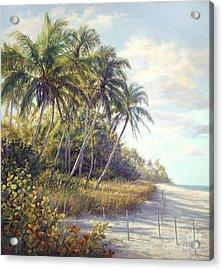 Naples Beach Access Acrylic Print by Laurie Hein