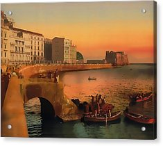 Acrylic Print featuring the painting Naples Italy 1920 by Douglas MooreZart