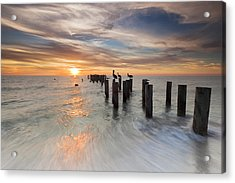 Naples Sunset Acrylic Print