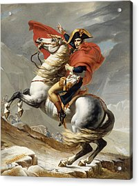 Napoleon Bonaparte On Horseback Acrylic Print by War Is Hell Store