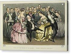 Napoleon IIi At A Ball Acrylic Print by Granger