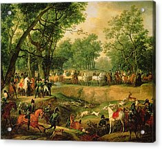 Napoleon On A Hunt In The Compiegne Forest, 1811 Oil On Canvas Acrylic Print