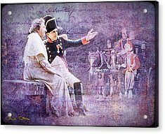 Napoleon With The Pope Acrylic Print by Chuck Staley