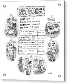 Napquest Acrylic Print by Roz Chast