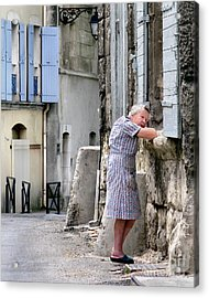 Naptime In Arles. France Acrylic Print by Jennie Breeze