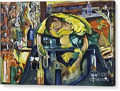 Narcisisstic Wine Bar Experience - After Caravaggio Acrylic Print