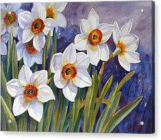 Narcissus Daffodil Flowers Acrylic Print