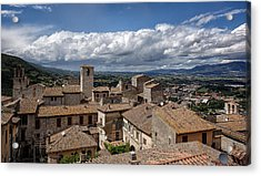 Acrylic Print featuring the photograph Narni Roof Tops by Uri Baruch