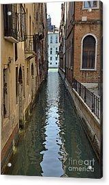 Narrow Canal In Venice Acrylic Print by Sami Sarkis