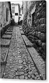 Narrow Street In Cusco Acrylic Print by Alexey Stiop