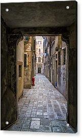 Narrow Street In Venice Acrylic Print by Francesco Rizzato