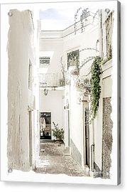 Narrow Walkway Of Capri Acrylic Print