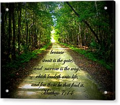 Narrow Way Acrylic Print by Sheri McLeroy