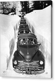 Narrow Winter Road Acrylic Print by Underwood Archives