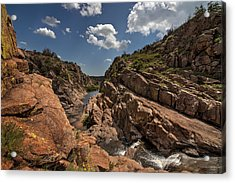 Narrows Canyon In The Wichita Mountains Acrylic Print