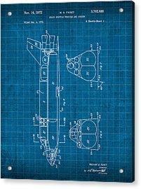 Nasa Space Shuttle Vintage Patent Diagram Blueprint Acrylic Print by Design Turnpike