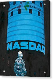 Acrylic Print featuring the painting Nasdaq by Scott Listfield
