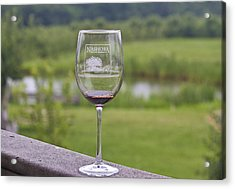 Nashoba Winery Wine Glass Acrylic Print by John Hoey