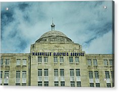 Nashville Electric Service Building Acrylic Print by Jai Johnson