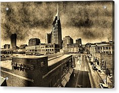 Nashville Grunge Acrylic Print by Dan Sproul