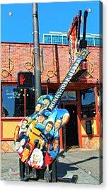 Nashville Legends Guitar Acrylic Print by Dan Sproul