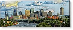 Nashville Panorama Acrylic Print by Pixabay