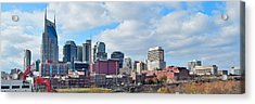 Nashville Panoramic View Acrylic Print by Frozen in Time Fine Art Photography