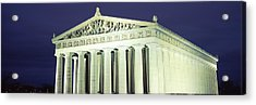 Nashville Parthenon At Night Acrylic Print by Panoramic Images