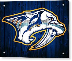 Nashville Predators Barn Door Acrylic Print