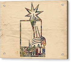Nashville Predators Logo Vintage Acrylic Print
