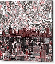 Nashville Skyline Abstract 3 Acrylic Print