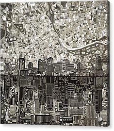 Nashville Skyline Abstract 5 Acrylic Print